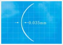 中心厚0.035mm